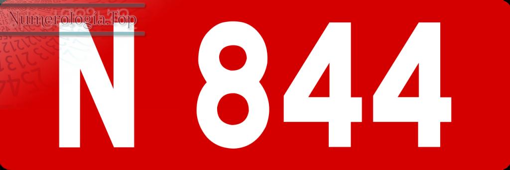 Datos Numerológicos Sobre el Número 844