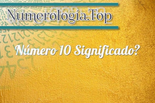Número 10 Significado