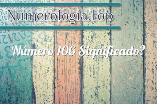 Número 106 Significado