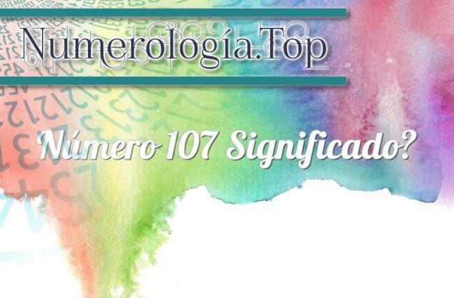 Número 107 Significado