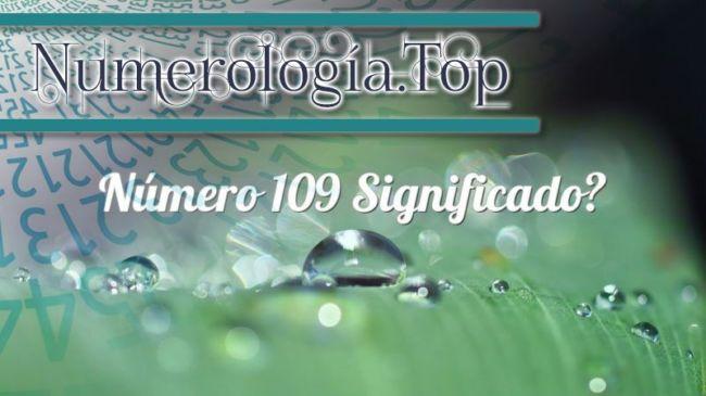 Número 109 Significado