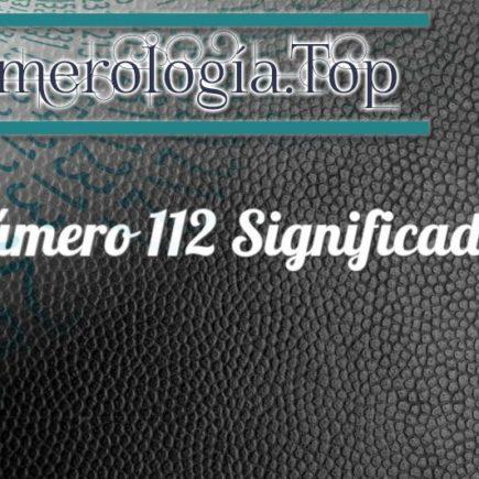 Número 112 Significado