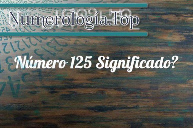 Número 125 Significado