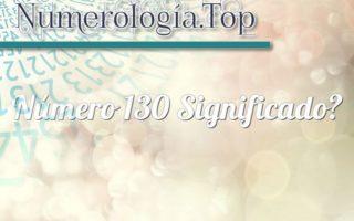 Número 130 Significado
