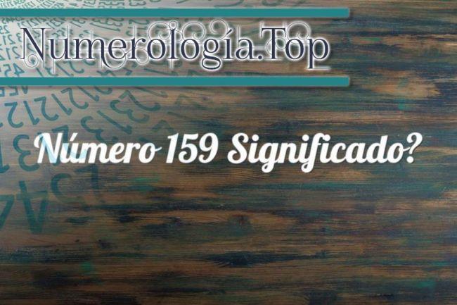 Número 159 Significado