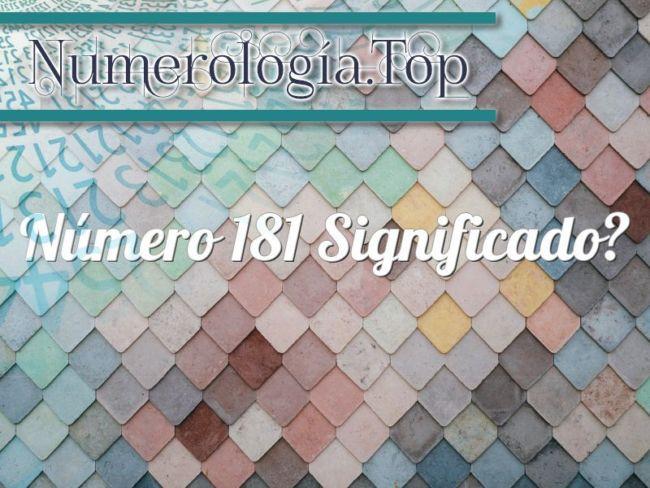 Número 181 Significado