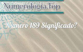 Número 189 Significado