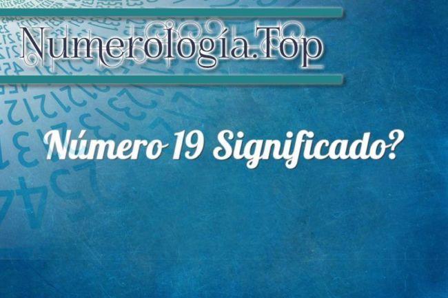 Número 19 Significado