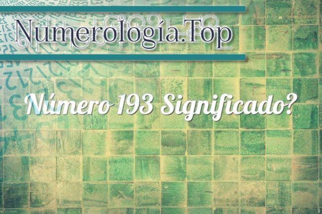Número 193 Significado