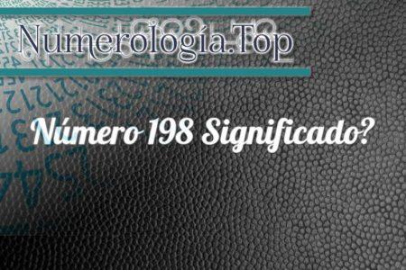 Número 198 Significado