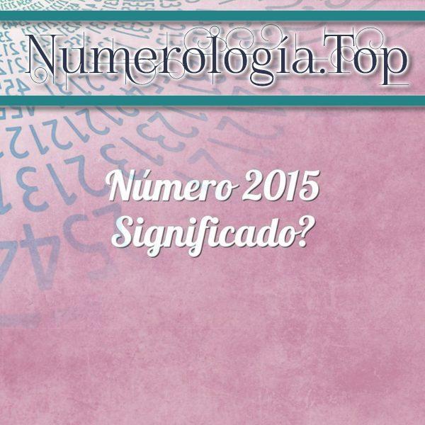 Número 2015 Significado