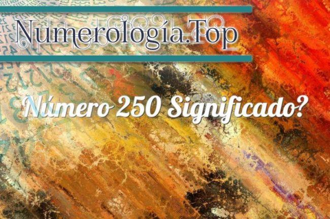 Número 250 Significado