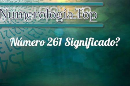 Número 261 Significado