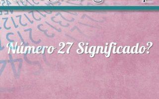 Número 27 Significado