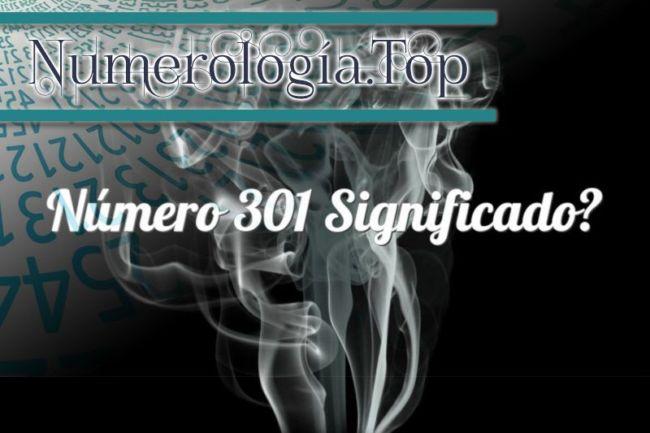 Número 301 Significado