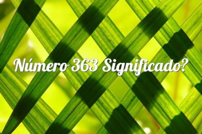 Número 363 Significado