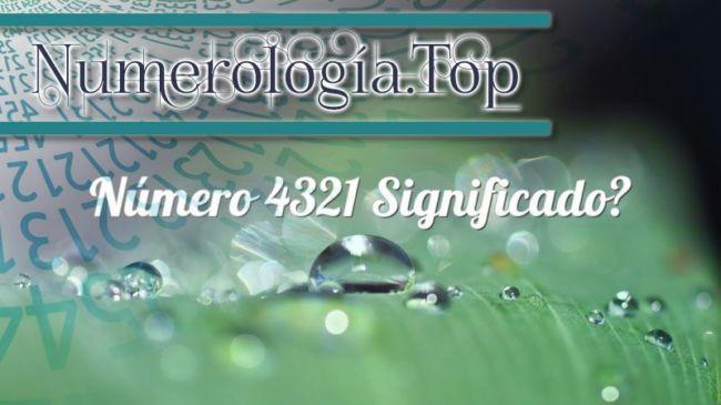 Número 4321 Significado