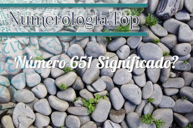 Número 651 Significado