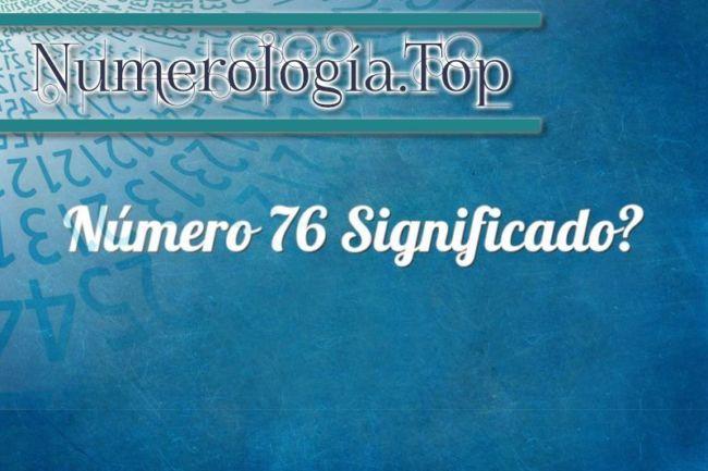Número 76 Significado