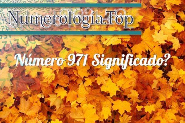 Número 971 Significado
