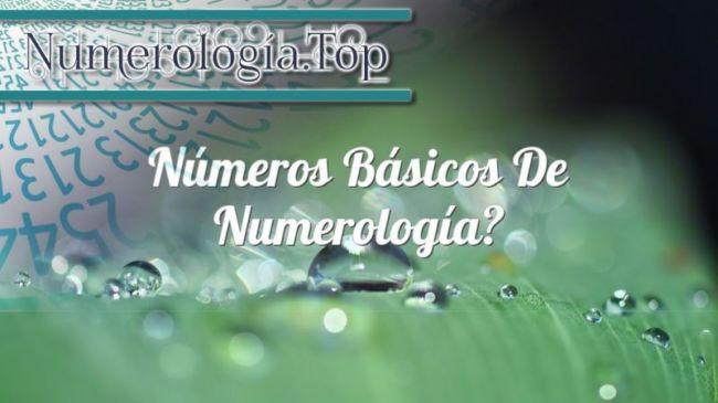 Números básicos de numerología