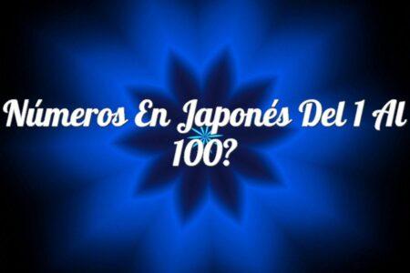 Números en Japonés del 1 al 100