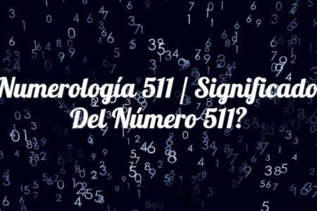 Numerología 511 / Significado del número 511