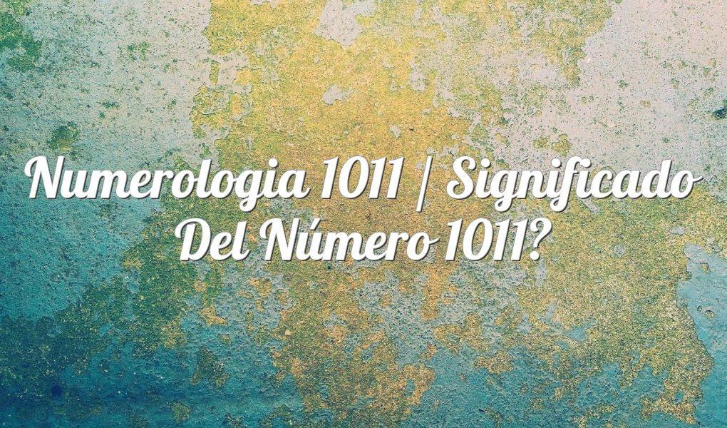 Numerología 1011 / Significado del número 1011