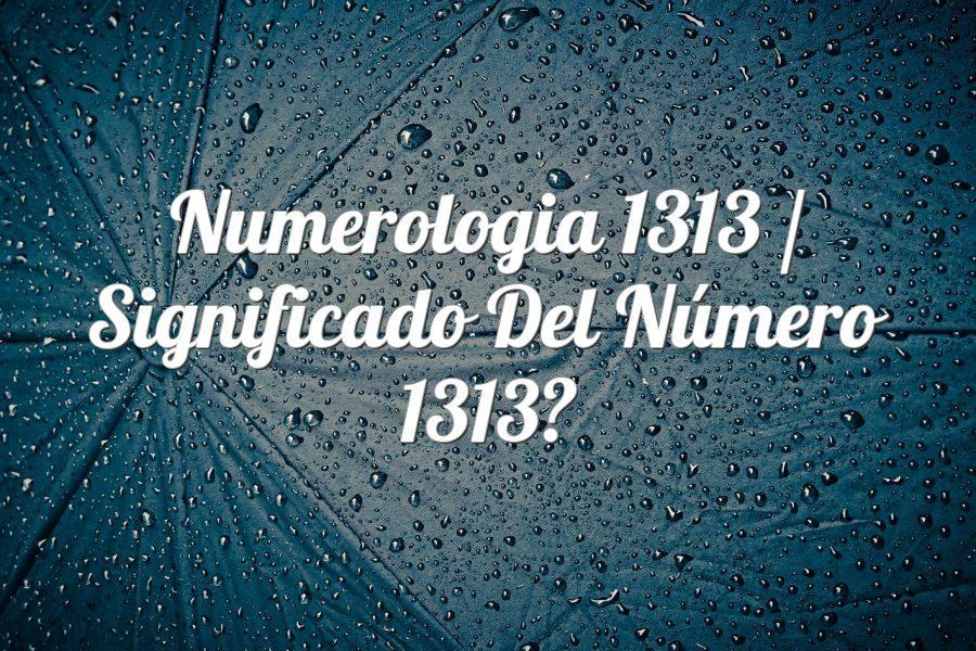 Numerología 1313 / Significado del número 1313
