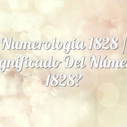 Numerologia 1828 / Significado del número 1828