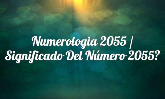 Numerología 2055 / Significado del número 2055
