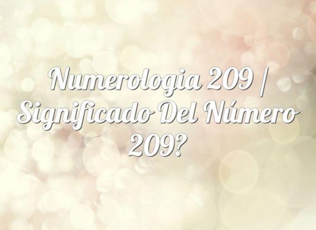 Numerología 209 / Significado del número 209