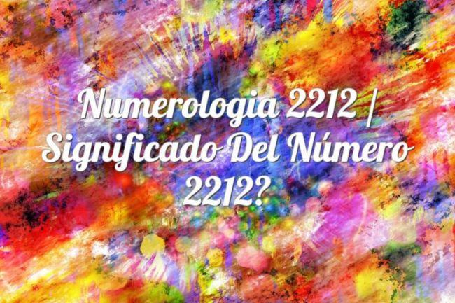 Numerología 2212 / Significado del número 2212