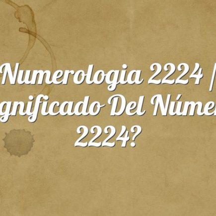 Numerologia 2224 / Significado del número 2224