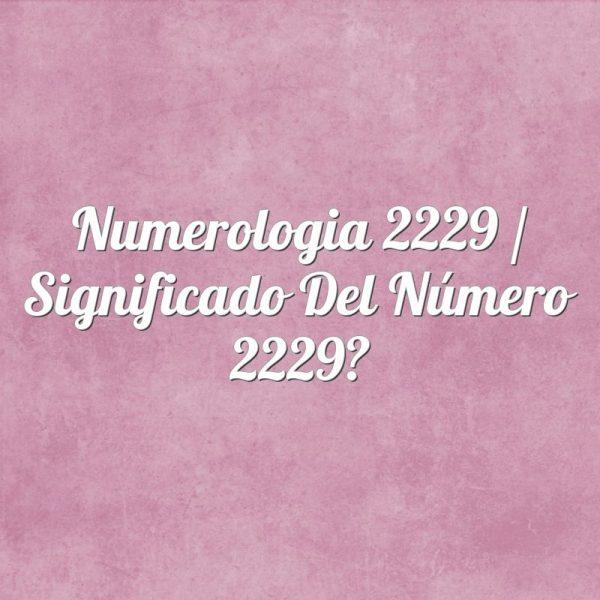 Numerología 2229 / Significado del número 2229