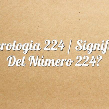 Numerologia 224 / Significado del número 224