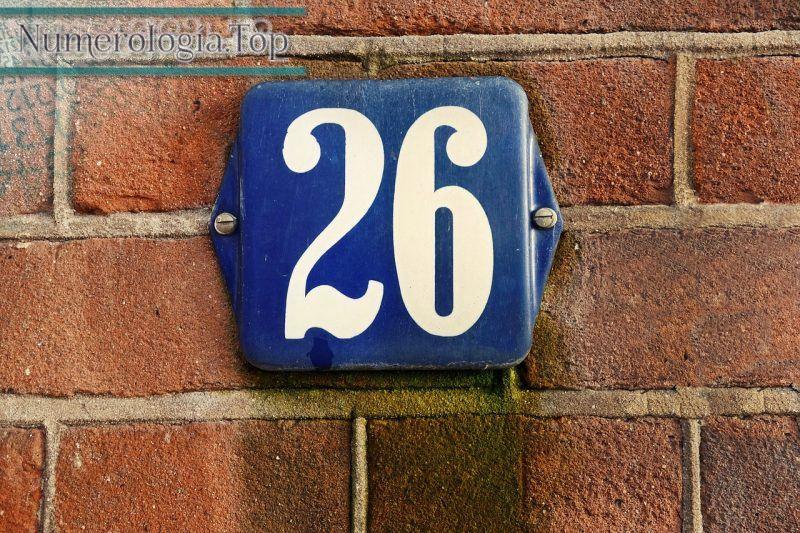 Numerología del número 26