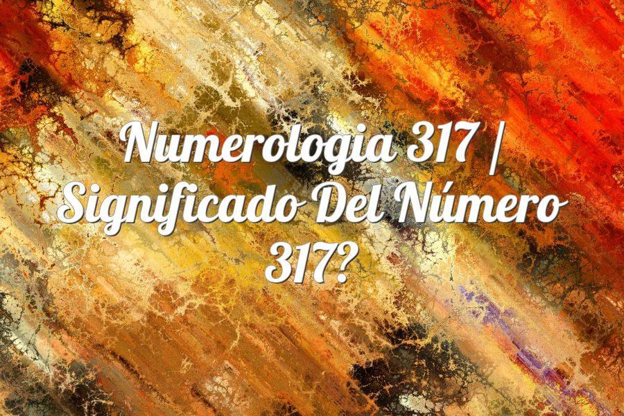 Numerología 317 / Significado del número 317