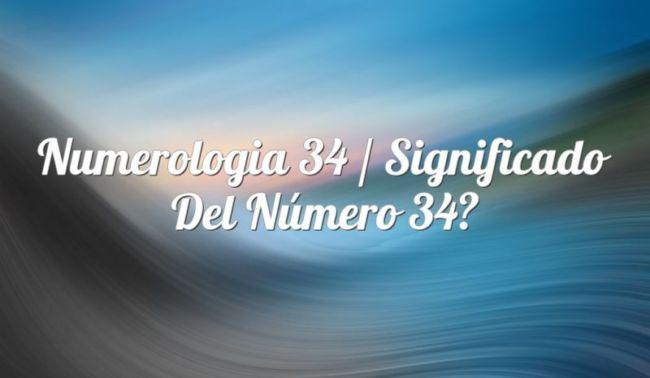 Numerología 34 / Significado del número 34