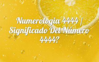 Numerología 4444 / Significado del número 4444