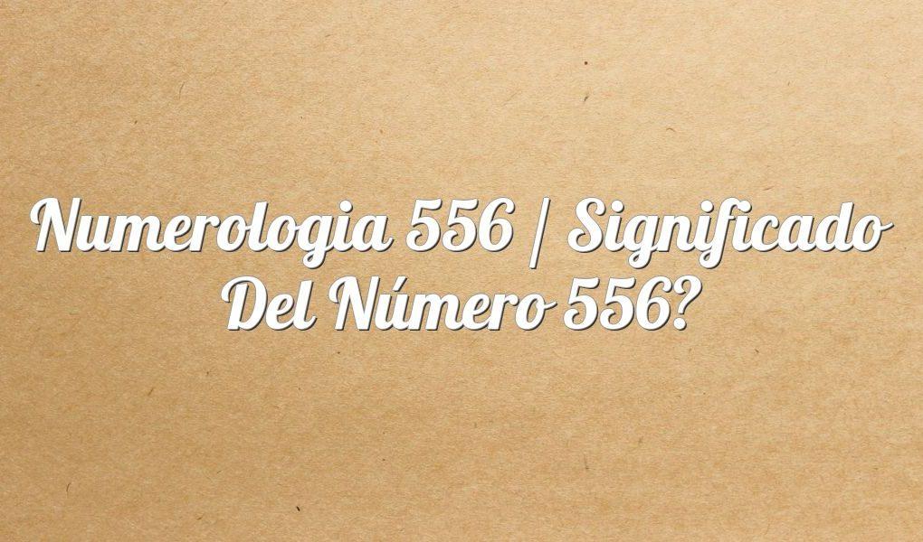 Numerología 556 / Significado del número 556