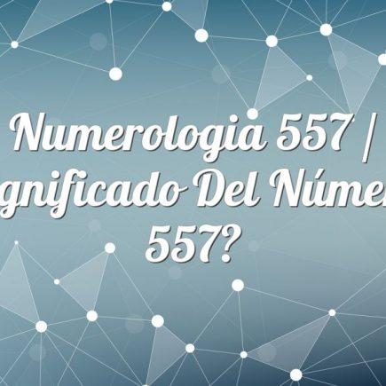 Numerologia 557 / Significado del número 557