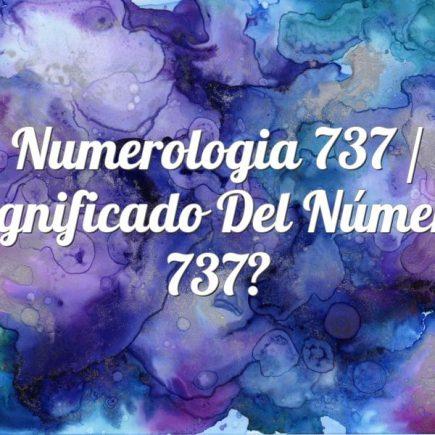 Numerologia 737 / Significado del número 737