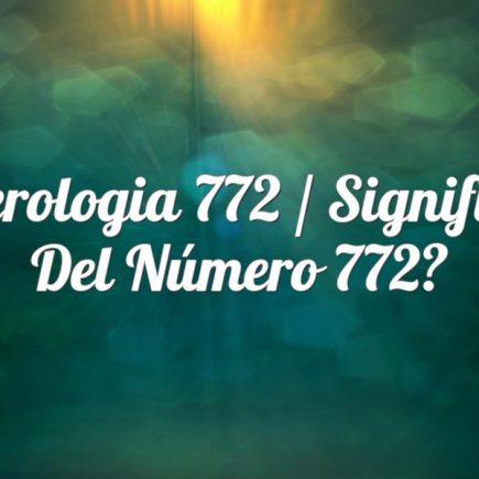 Numerologia 772 / Significado del número 772
