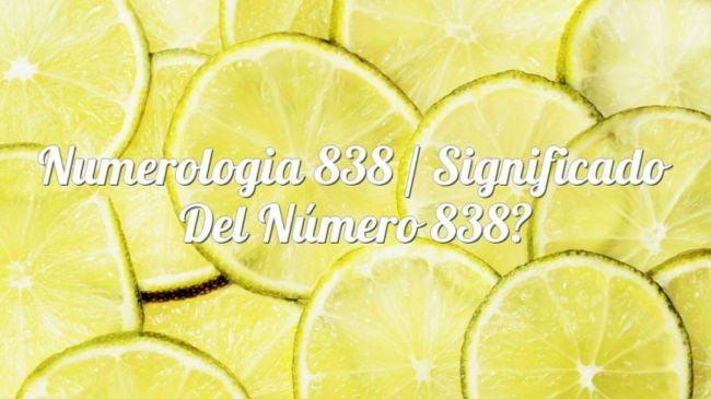 Numerología 838 / Significado del número 838
