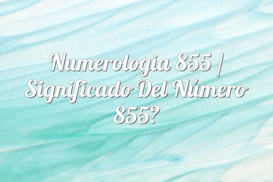 Numerología 855 / Significado del número 855