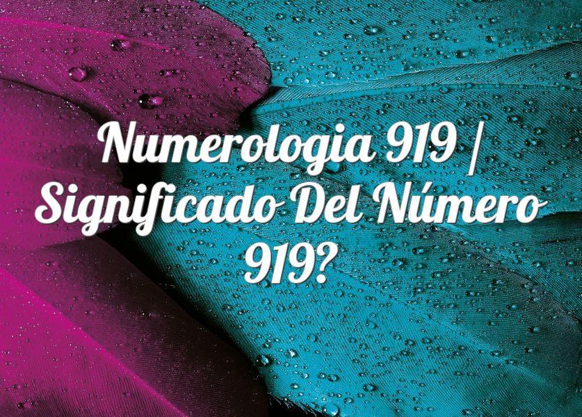 Numerología 919 / Significado del número 919