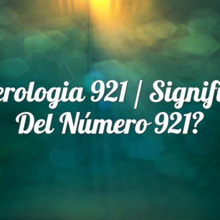 Numerologia 921 / Significado del número 921
