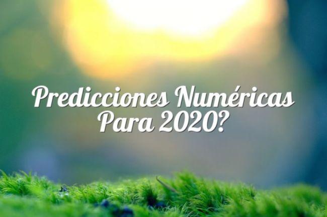 Predicciones numéricas para 2020