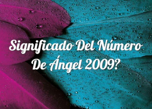 Significado del número de Ángel 2009